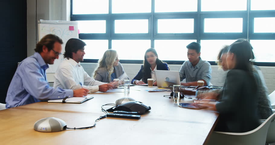Time lapse of business executives during a meeting in conference room in office | Shutterstock HD Video #21431953