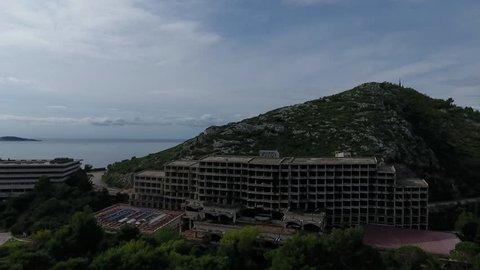 Deep inside an abandoned resort in Croatia.
