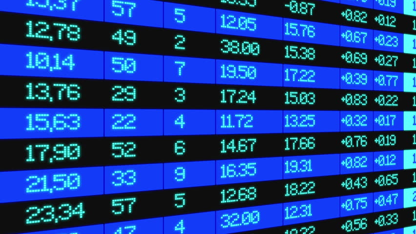 Stock Market board, animation to the right, data highlighted and animated | Shutterstock HD Video #21460813