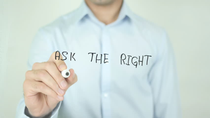 Ask the Right Questions, Man Writing on Screen | Shutterstock HD Video #21462871