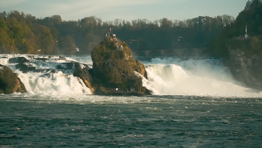 Rhine Falls (Rheinfall) Switzerland Slow Motion, Byrds Crossing | Shutterstock HD Video #21482335
