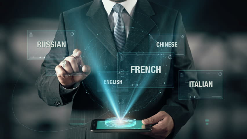 Businessman with Learn Spain concept choose from languages using digital tablet | Shutterstock HD Video #21502903