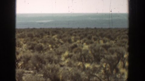 CALIFORNIA 1936: view of a lonely desert.