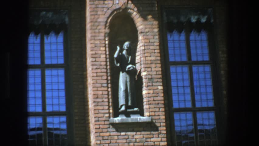 STOCKHOLM 1975: a neat looking statue standing alone. | Shutterstock HD Video #21512125