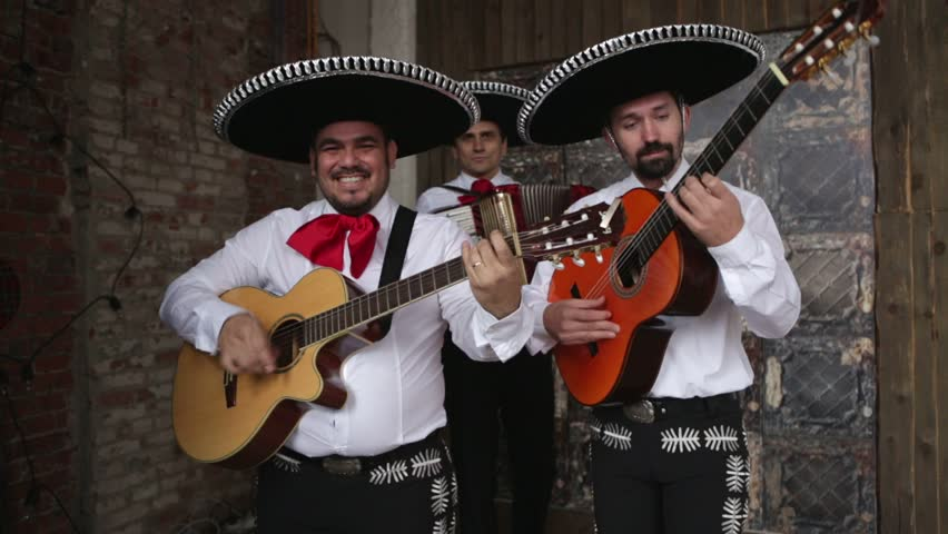 Mexican musician mariachi playing serenade