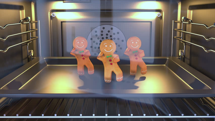 Gingerbread man Dancers - . 3D animation of funny, hot and sweet cookie boy dancing for holiday and kid event, show, VJ, party, music, website, banner, dvd  #21549772