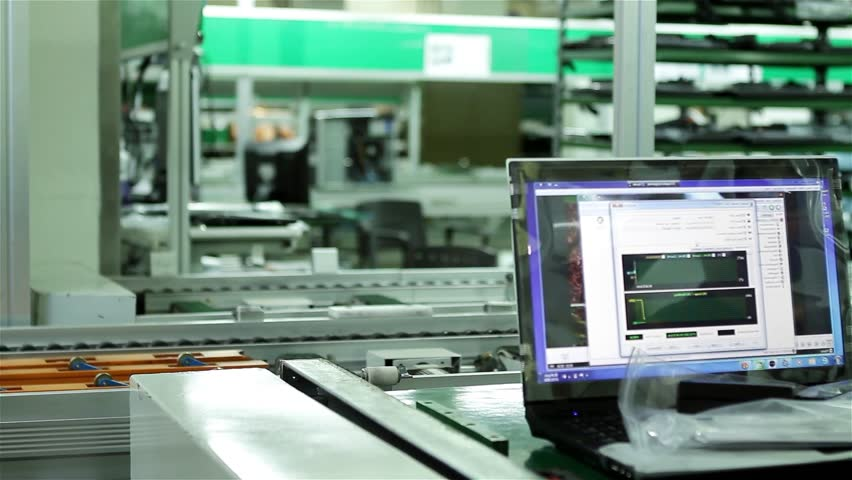 Laptop Computer at the Production Line of a Manufacturing Plant. | Shutterstock HD Video #21554263
