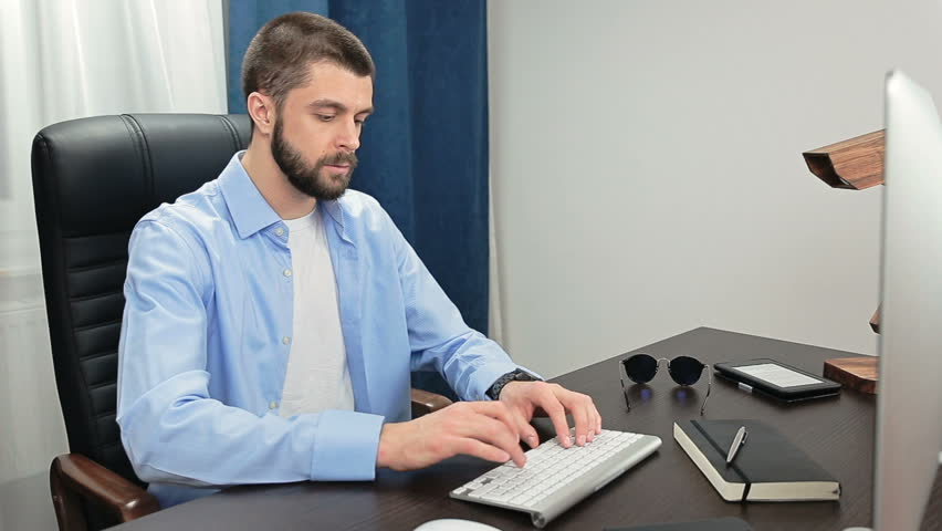 Man in the Office Work Stock Footage Video (100% Royalty-free) 21574453 |  Shutterstock