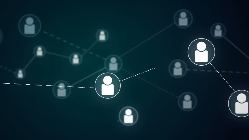 Social Network People Icon Link Connection Technology Loop Animation 4K | Shutterstock HD Video #21580255