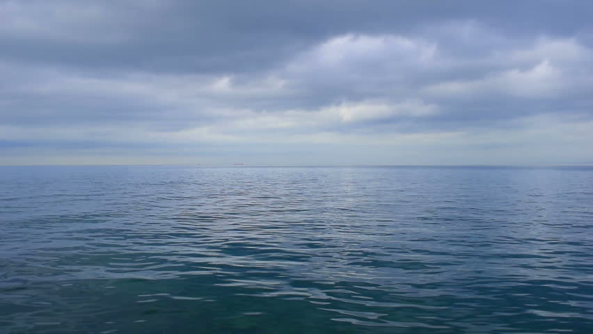 Sea, seascape nature background, sea view in cloudy day in autumn season. Clean sea water, small soft waves, cloudy dark sky, horizon. Sea water surface with ripple. Full HD video 1080p footage | Shutterstock HD Video #21587929