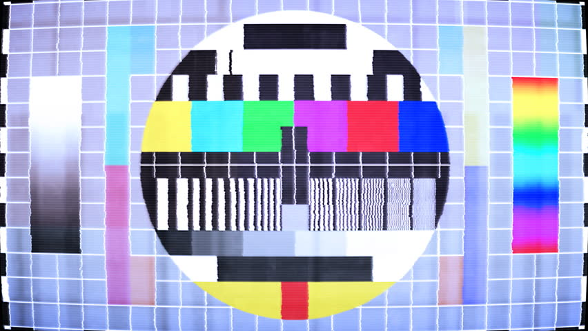 TV test screen with color bars