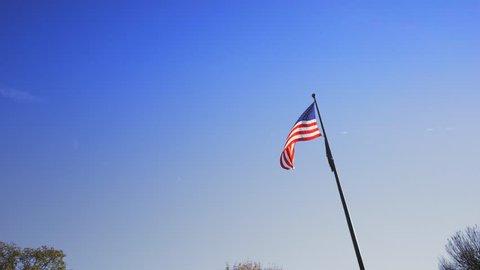 video shot in washington dc amercian flag