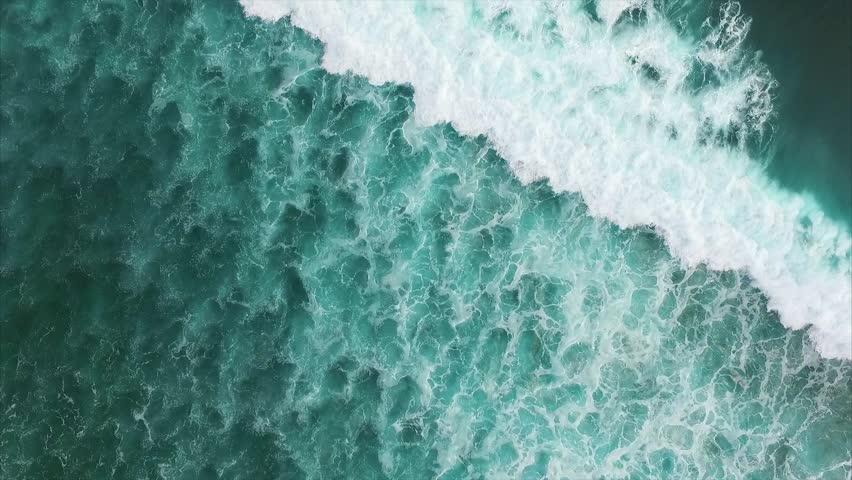 Beautiful turquoise Ocean Waves. Aerial top view. Bali, Indonesia | Shutterstock HD Video #21693190