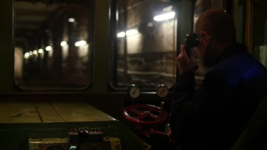 Rail car driver in the subway tunnel | Shutterstock HD Video #21705931