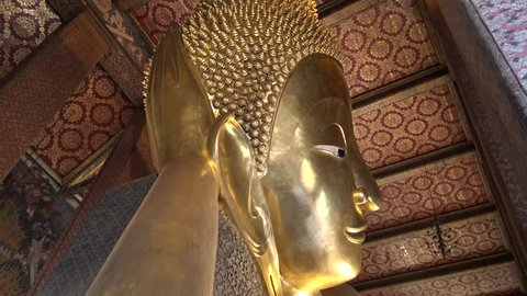 Bangkok, Thailand-04 April, 2016: 4K Wat Pho Known also as the Temple of the Reclining Buddha or Wat Po, is a Buddhist temple complex in the Phra Nakhon District, Bangkok, Thailand-Dan