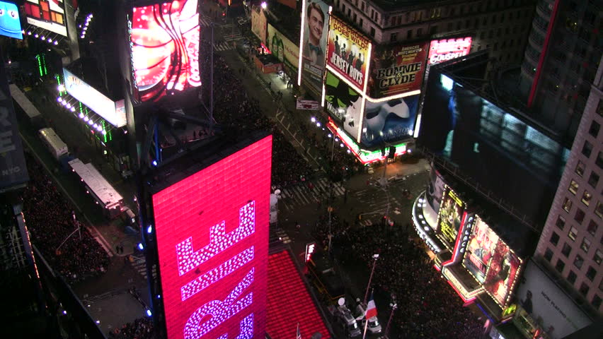 NEW YORK - DECEMBER 31: Crowds gather in New York City's Times Square to meet the New Year on December 31, 2011
