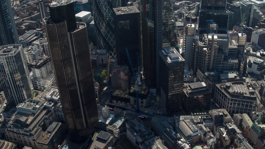 4k aerial view of the london city skyline from a helicopter #21762583
