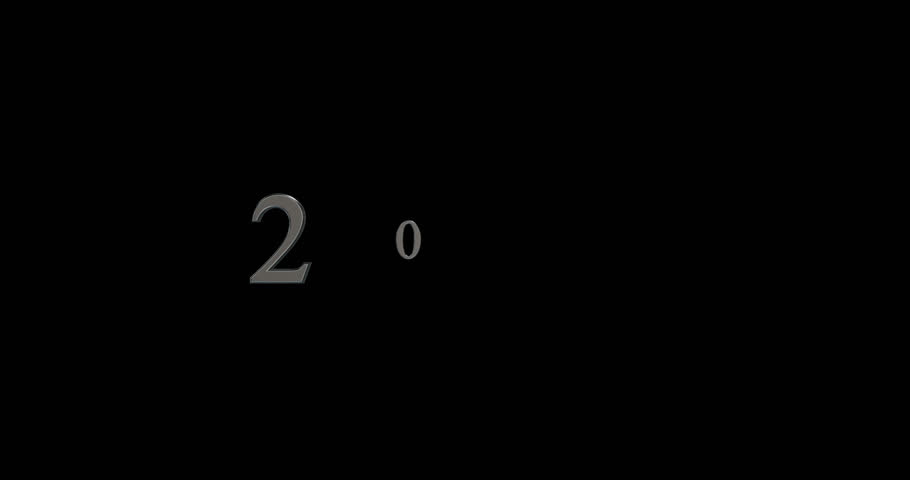 Happy new year 2017 Animation Text Silver | Shutterstock HD Video #21764446