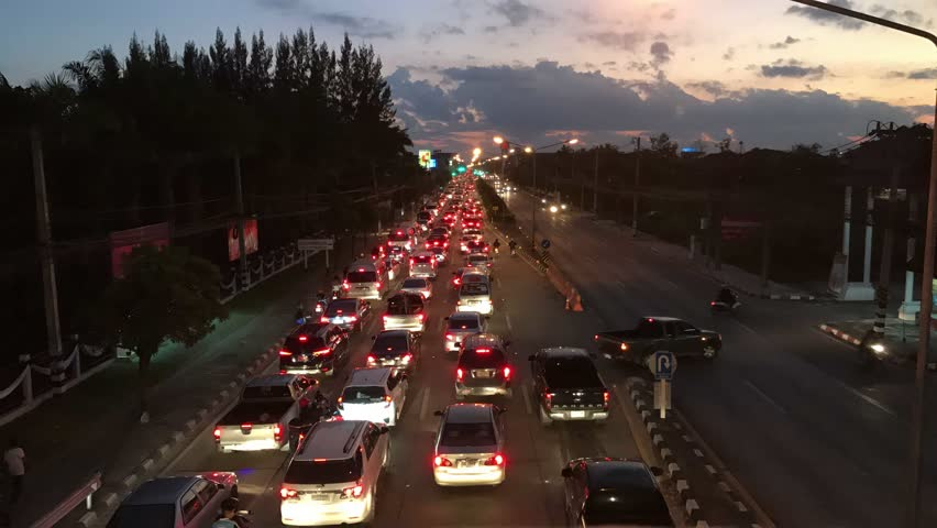 Time lapse traffic at night.   Shutterstock HD Video #21793660