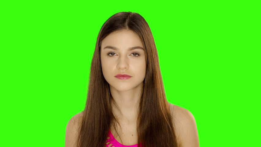 Chromakey footage Young woman with her finger up, warns of retaliation | Shutterstock HD Video #21802747