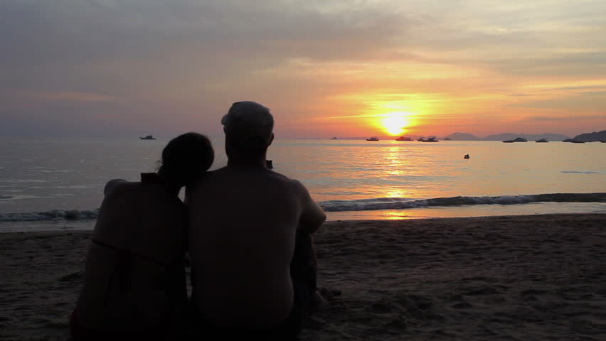 Lovers at sunset | Shutterstock HD Video #21853570