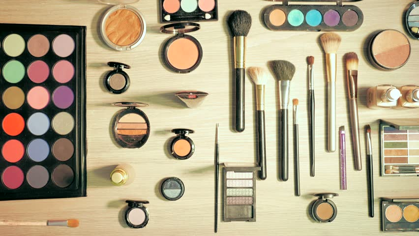 Makeup Cosmetics Beauty Products Stop Stock Footage Video 100 Royalty Free 21907876 Shutterstock