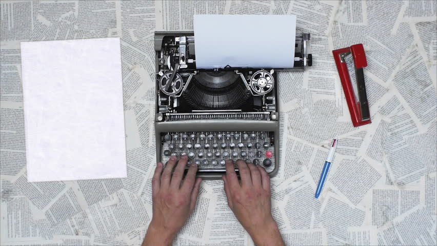 Writing a book, script, newspaper on an old typewriter, Different styles available in my gallery color and Black and white | Shutterstock HD Video #21915349