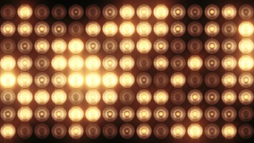 Animation Of Flashing Light Bulbs Stock