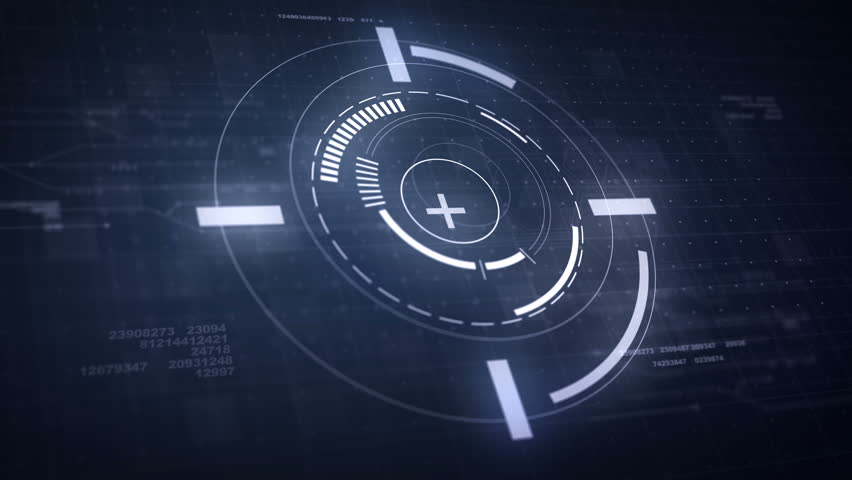 Hi-Tech Futuristic HUD Display Circle Elements Looping Animation 4K | Shutterstock HD Video #21943732