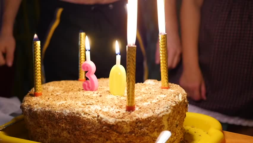 Pleasing Birthday Cake With Candles Spark Stock Footage Video 100 Royalty Personalised Birthday Cards Paralily Jamesorg