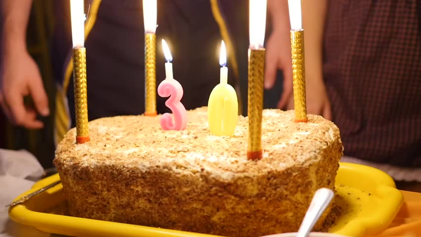 Enjoyable Birthday Cake With Candles Spark Stock Footage Video 100 Royalty Personalised Birthday Cards Paralily Jamesorg