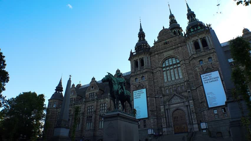 Nordiska museet. Museum of Ethnography in Stockholm. Sweden. Shot in 4K (ultra-high definition (UHD)).   Shutterstock HD Video #21981982