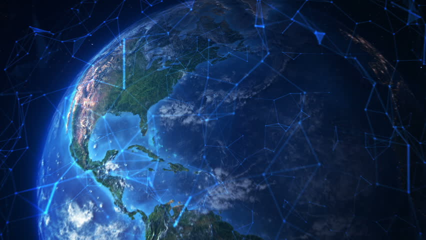Connected Earth. Travel from New York to the space. Futuristic world network. Elements furnished by NASA. MORE OPTIONS IN MY PORTFOLIO. Royalty-Free Stock Footage #21992968