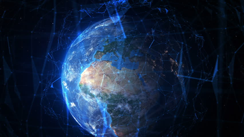 Connected Earth. Travel from London to the space. Futuristic world network. Elements furnished by NASA. MORE OPTIONS IN MY PORTFOLIO. Royalty-Free Stock Footage #21992986