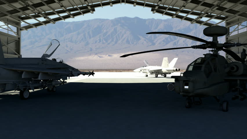 An RQ-4 unmanned drone taking off from a military base in Middle East. High-quality 3d animation