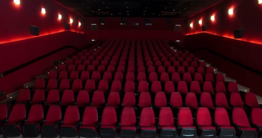 Empty Cinema Hall with Red : Video de stock (totalmente libre de ...