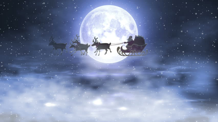 Santa Riding His Sleigh On Stock Footage Video 100 Royalty Free 22024198 Shutterstock