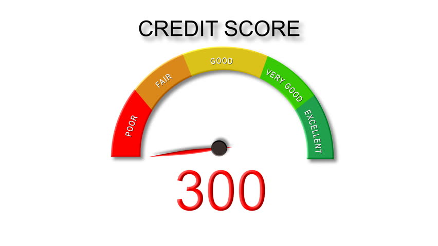 Increasing Credit Score (with Dial) White Background Royalty-Free Stock Footage #22038859