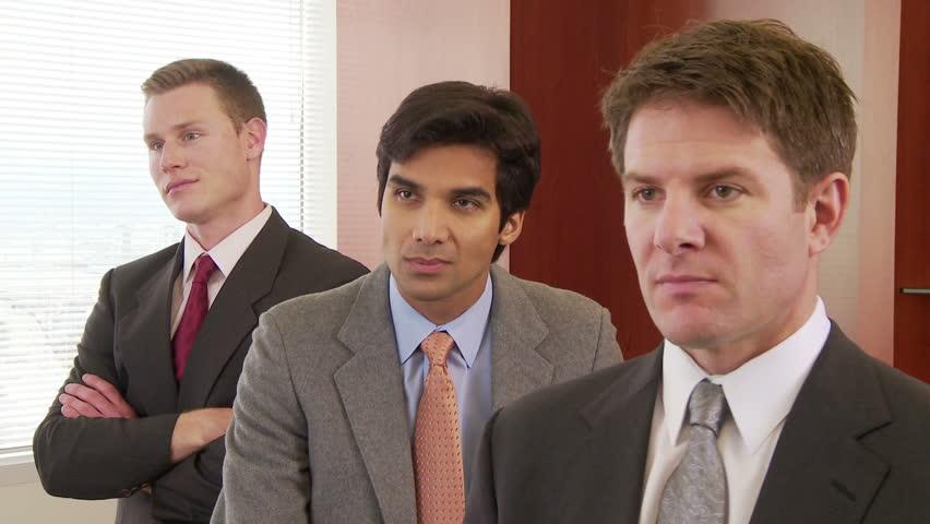 Close up portrait of three business men #2205391