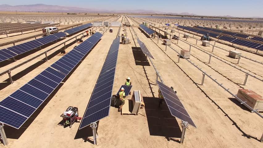 Solar panel field construction project. #22071196