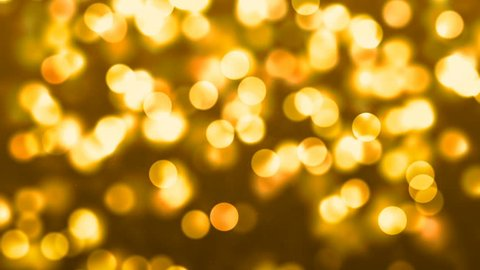 Yellow Abstract Lights bokeh background loop