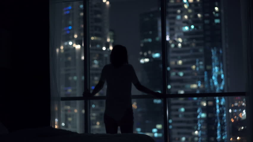 Young woman having difficulties with sleeping during night, 4K