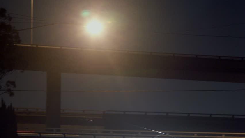 Timelapse of 405 freeway overpass, Los Angeles, California. | Shutterstock HD Video #2209489