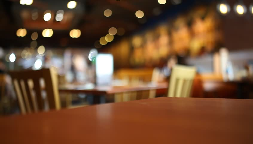 Table at restaurant blurred background | Shutterstock HD Video #22118923