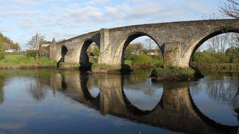 Old Stirling bridge over River Forth Stirling Scotland