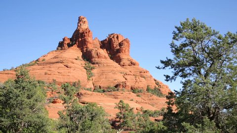 Bell Rock panning to Courthouse Butte, Sedona, Arizona.