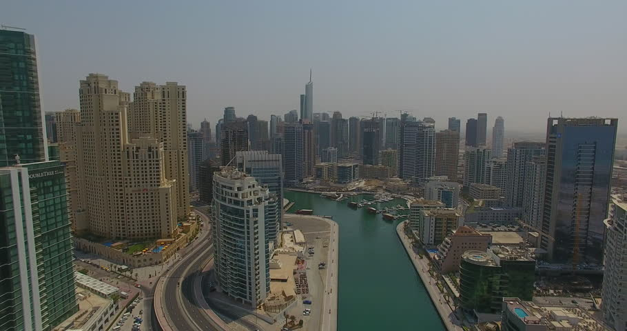 Dubai Jumeirah City  Zoom Out by drone