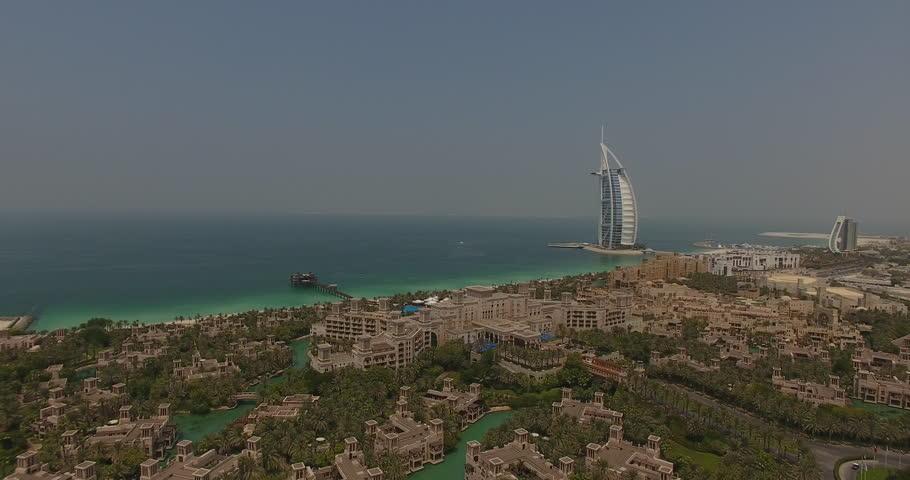 Slowly Approaching Burj Al arab by Drone