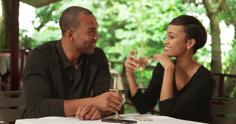 A Black Couple Drink While Stock Footage Video (100% Royalty-free) 22206553    Shutterstock