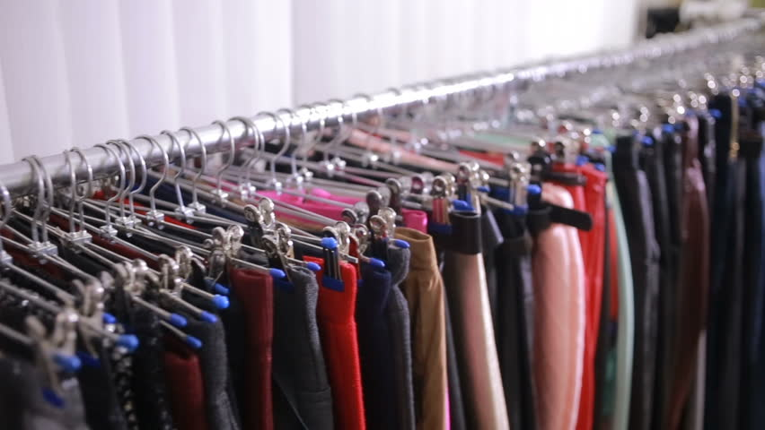 Selection of women's clothing in the store | Shutterstock HD Video #22207318
